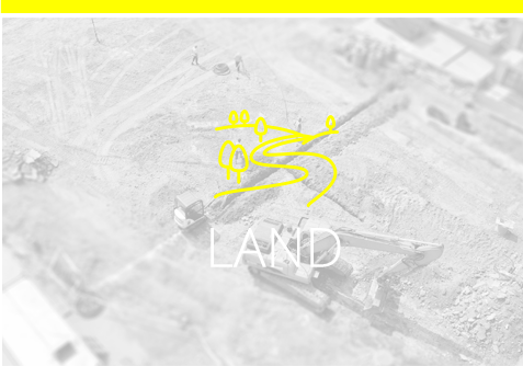 Land icon with an arial view of land background